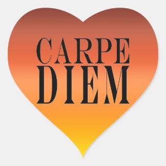 Carpe Diem saisissent le bonheur latin de citation Autocollants En Cœur