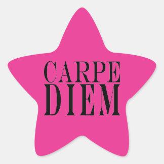 Carpe Diem saisissent le bonheur latin de citation Stickers En Étoile