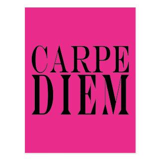 Carpe Diem saisissent le bonheur latin de citation Carte Postale