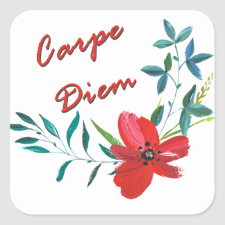 Carpe Diem Sticker Carré