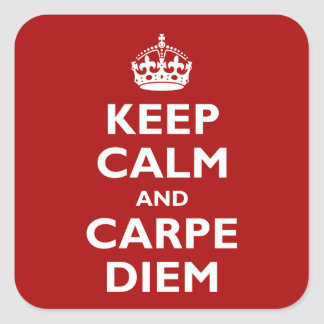 Carpe Diem ! Sticker Carré