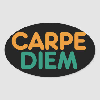 Carpe Diem Sticker Ovale