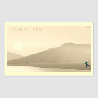 Carpe Diem Sticker Rectangulaire