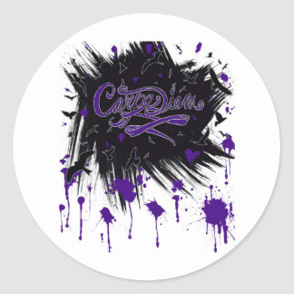 Carpe Diem Sticker Rond