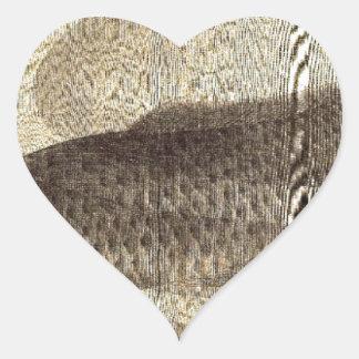 Carpe grise dans l'eau par Utagawa Toyokuni II Sticker Cœur