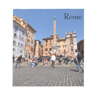 Carré à Rome, Italie Bloc-note