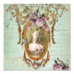 Carré antique de jardins de Marie Antoinette Carton D'invitation 13,33 Cm