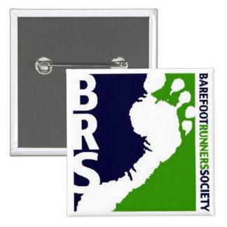 Carré blanc de pied de coureurs de Soc de logo aux Badge