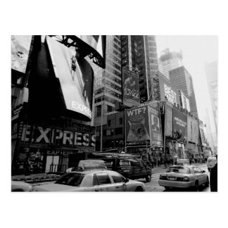 Carré blanc noir de New York Times Carte Postale