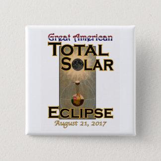 Carré de bouton d'éclipse pin's