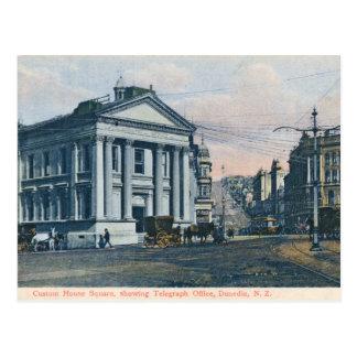 Carré de bureau de douane, carte postale de cru de
