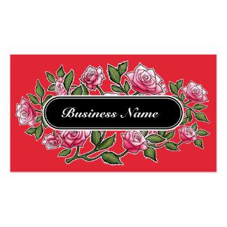 Carré de graphique de cramoisi d'alizarine floral carte de visite standard