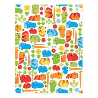 Carré de légumes lumineux de cobaye carte postale
