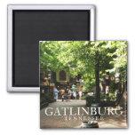 Carré de village dans Gatlinburg, souvenir du Tenn Aimants