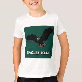 Carré d'Eagle de vol T-shirt