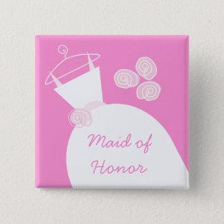 Carré d'honneur de rose de robe de mariage badge