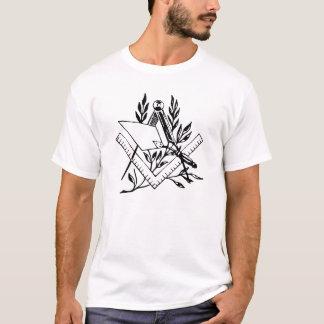 Carré et boussole avec la truelle t-shirt