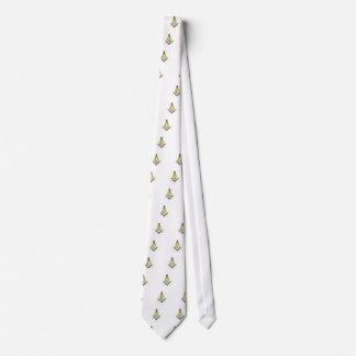 Carré et boussoles de franc-maçon cravates
