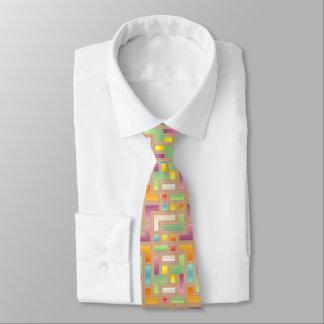carré lumineux coloré. pourpre vert, bleu, jaune cravates