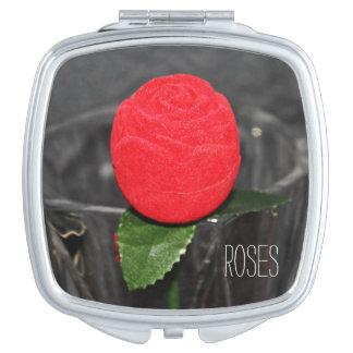 Carré Miroir compact Rose Rouge