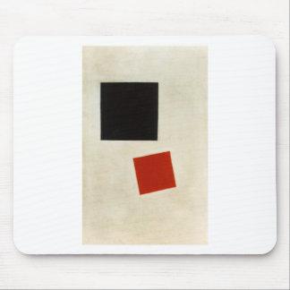 Carré noir et carré rouge par Kazimir Malevich Tapis De Souris