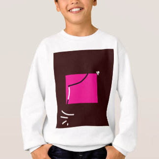 Carré rose sweatshirt