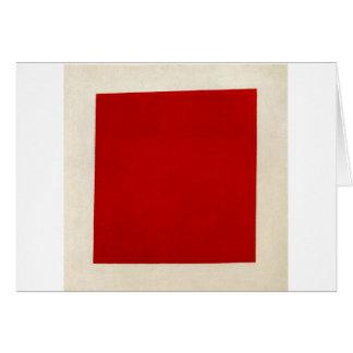Carré rouge par Kazimir Malevich Carte De Vœux