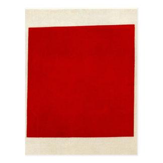 Carré rouge par Kazimir Malevich Carte Postale