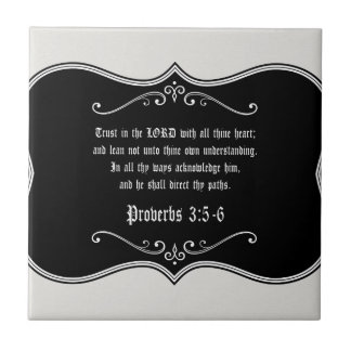 Carreau 3:5 de proverbes - cadeau chrétien fait sur