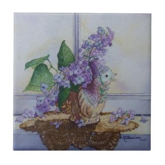 Carreau 6298 lilas dans le vase à oiseau