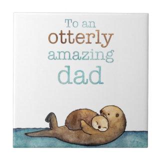 Carreau À une loutre de mer otterly stupéfiante de papa