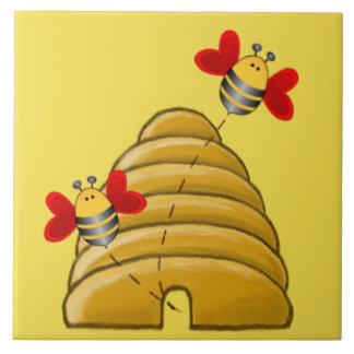 Carreau ABEILLE SKEP par SHARON SHARPE