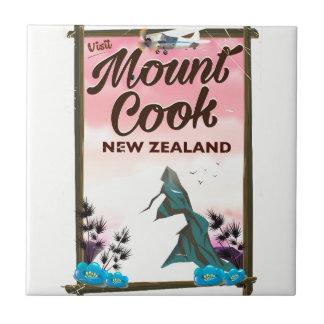 Carreau Affiche de voyage de la Nouvelle Zélande de