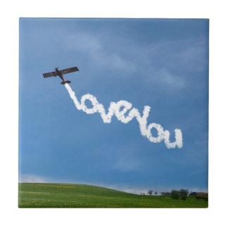 Carreau Aimez-vous publicité aérienne