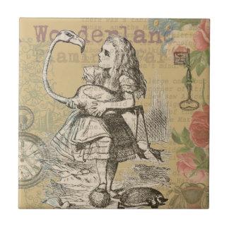 Carreau Alice dans le cru de flamant du pays des