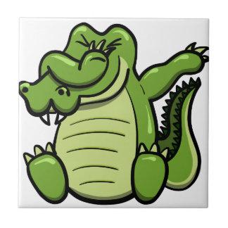 Carreau Alligator tamponnant d'animaux