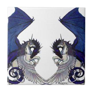 Carreau Amants de licorne et de mariage de dragon