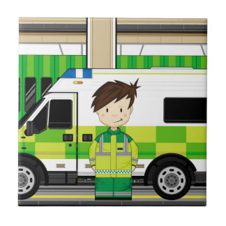 Carreau Ambulance de bande dessinée et EMT