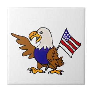 Carreau Américain Eagle d'amusement tenant l'art de