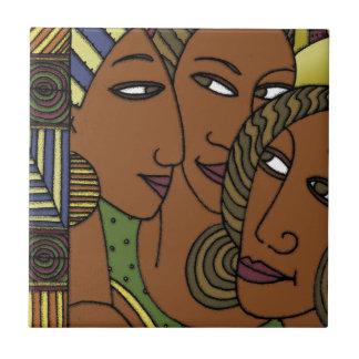 Carreau Amies de soeur de femmes d'Afro-américain