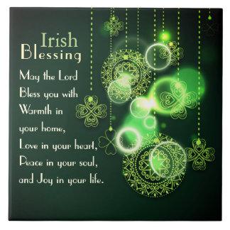 Carreau Amour irlandais de bénédiction à votre coeur,