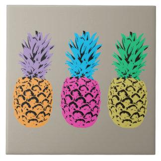 Carreau Ananas illustrés colorés