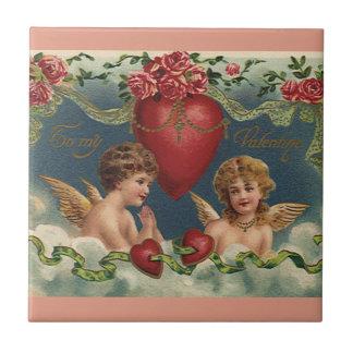 Carreau Anges victoriens vintages de Saint-Valentin dans