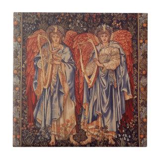 Carreau Anges vintages, angélus Laudantes par Burne Jones