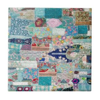 Carreau Aqua et conception bleue de tapisserie d'édredon