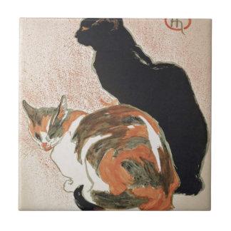 Carreau Aquarelle - 2 chats - Théophile Alexandre Steinlen
