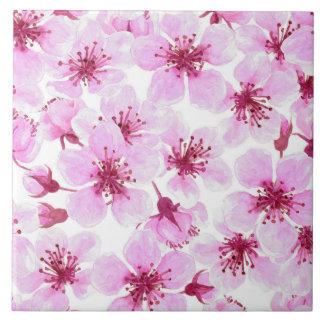 Carreau Aquarelle de fleurs de cerisier