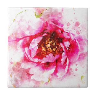 Carreau Aquarelle rose de pivoine
