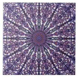 Carreau Arabesque coloré romantique d'ornement de mandala
