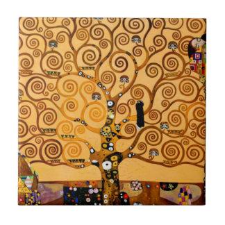 Carreau Arbre de la vie par des beaux-arts de Gustav Klimt